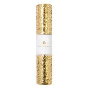 Tafelloper glitter goud (1,8m) Talking Tables