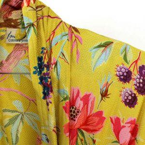 Kimono Royal Paradise Okergeel