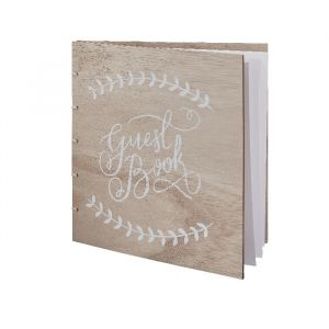 Boho gastenboek hout Ginger Ray