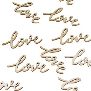 Houten Confetti Letters Love (25st) Ginger Ray