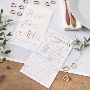 Wedding Wishes roségoud (10st) Beautiful Botanics Ginger Ray
