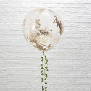 Mega confetti ballonnen roségoud (3st) Beautiful Botanics