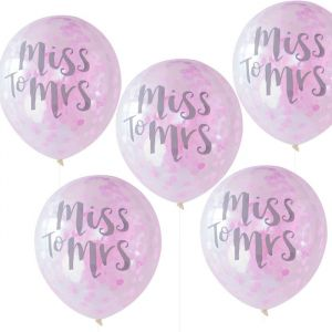 Confetti ballonnen Miss to Mrs (5st) Team Bride Ginger Ray