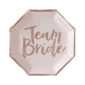 Bordjes (8st) Team Bride Ginger Ray