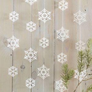 Slinger sneeuwvlokken Rustic Christmas Ginger Ray