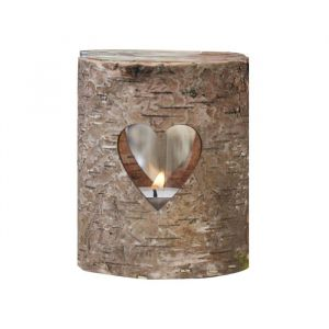 Houten boomstam theelichthouder Rustic Country Ginger Ray