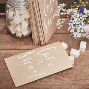 Zakjes Love is Sweet (20st) Rustic Country