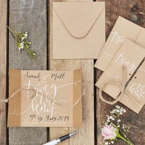 Save the Date Tying the Knot kraft (10st) Rustic Country
