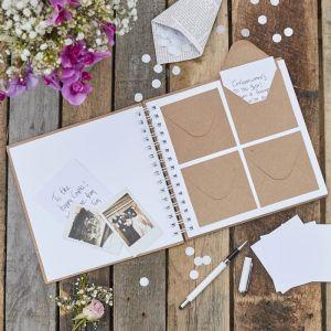 Gastenboek met envelopjes Rustic Country Ginger Ray