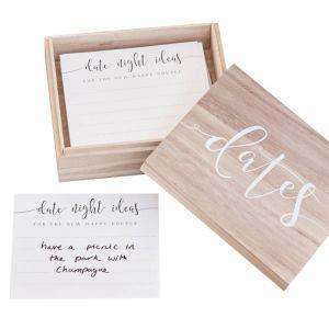Invulkaarten Dates met houten doos Rustic Country Ginger Ray