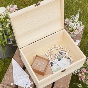 Houten bewaardoos Our Wedding Memories Rustic Country