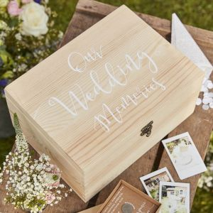 Houten bewaardoos Our Wedding Memories Rustic Country