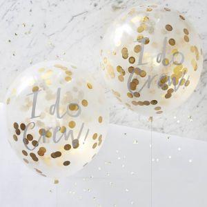 I Do Crew! confetti ballonnen goud (5st) Ginger Ray