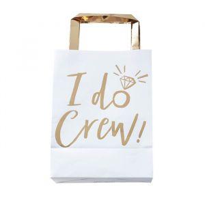 Uitdeelzakjes wit-goud (5st) I Do Crew Ginger Ray