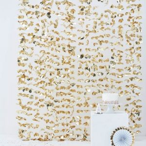 Backdrop Floral goud Pick & Mix Pastel Ginger Ray