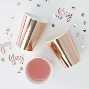 Bekertjes roségoud (8st) Pick & Mix Rose Gold Ginger Ray