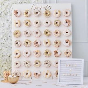 Donut Wall large Gold Wedding Ginger Ray