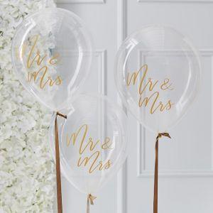 Mr & Mrs ballonnen Gold Wedding (5 st) Ginger Ray
