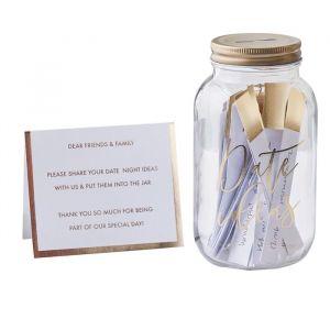 Alternatief gastenboek Date Jar Gold Wedding Ginger Ray