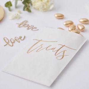 Uitdeelzakjes Gold Wedding (20 st) Ginger Ray