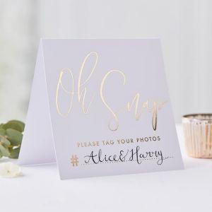 Instagram kaarten Gold Wedding (5 st) Ginger Ray