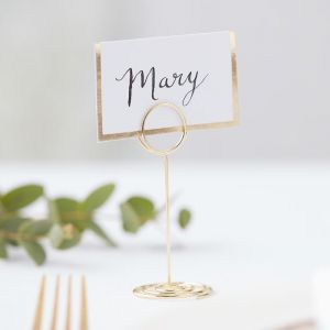 Plaatskaarthouder Gold Wedding Ginger Ray