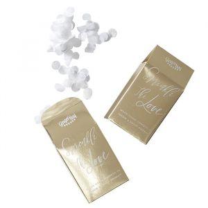 Doosje met confetti Gold Wedding Ginger Ray