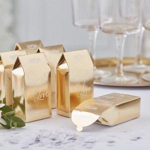 Doosje met confetti Gold Wedding (20 st) Ginger Ray