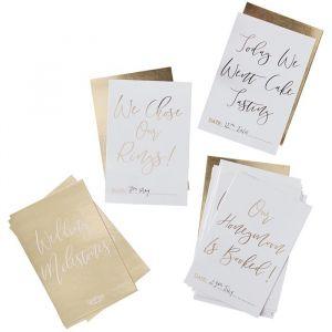 Bruiloft milestone kaarten Gold Wedding (24 st) Ginger Ray