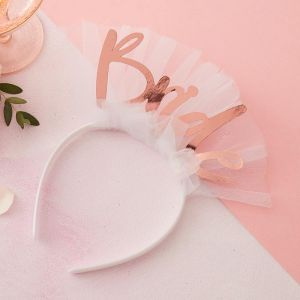 Haarband Bride met sluier Floral Hen Party Ginger Ray