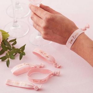 Armbandjes Team Bride Floral Hen Party (5 st) Ginger Ray