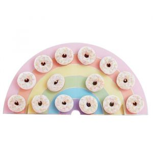 Donut Wall Regenboog Pastel Birthday Party Ginger Ray