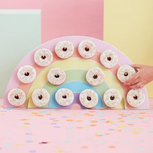 Donutwall Regenboog Pastel Birthday Party Ginger Ray