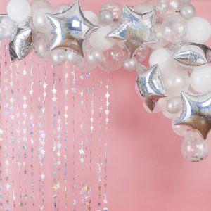 Ballonnenboog iridescent-wit Star Gazer Ginger Ray