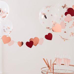 Slinger hartjes rosé, rood en roze (2m) Ginger Ray