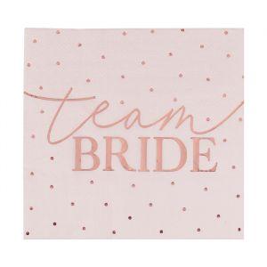 Servetten Team Bride Blush Hen (16st) Ginger Ray