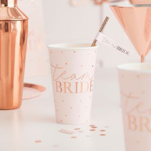 Bekers Team Bride Blush Hen (8st) Ginger Ray