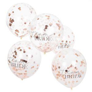 Confetti ballonnen Team Bride Blush Hen (5st) Ginger Ray