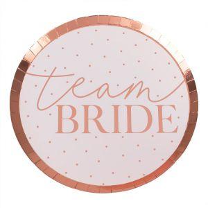 Bordjes Team Bride Blush Hen (8st) Ginger Ray