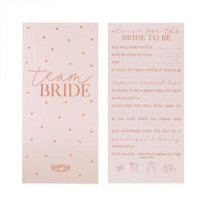 Invulkaarten Team Bride Blush Hen (10st) Ginger Ray