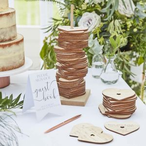 Alternatief gastenboek Hartjes Botanical Wedding Ginger Ray