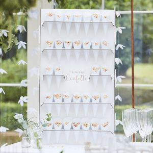 Confetti Wall met 32 zakjes Botanical Wedding Ginger Ray