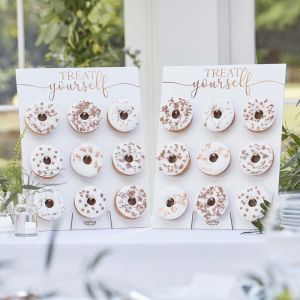 Donut Wall koper Botanical Wedding Ginger Ray