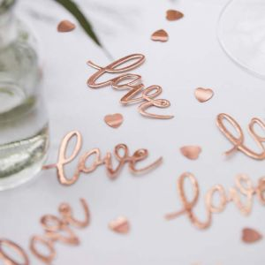 Tafelconfetti Love koper Botanical Wedding Ginger Ray