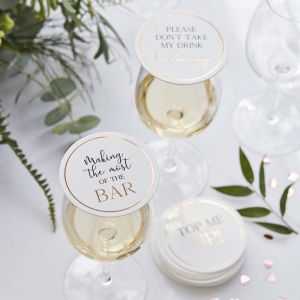 Viltjes met quotes Botanical Wedding (12st) Ginger Ray