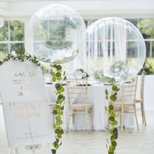 Orbz ballon met bladslinger Botanical Wedding Ginger Ray