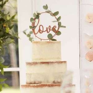 Taarttopper Love koper Botanical Wedding Ginger Ray