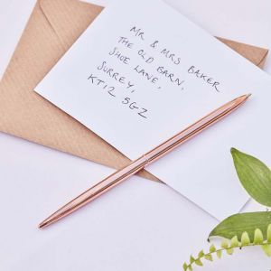 Pen roségoud Botanical Wedding Ginger Ray