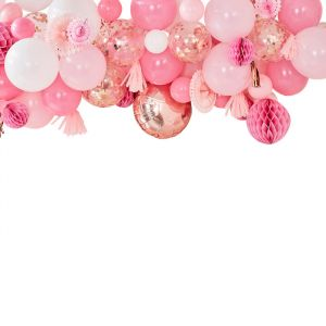 Ballonnenboog met decoratie roze Mix It Up Ginger Ray