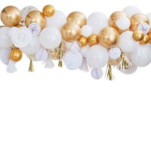 Ballonnenboog met decoratie Goud Mix It Up Ginger Ray